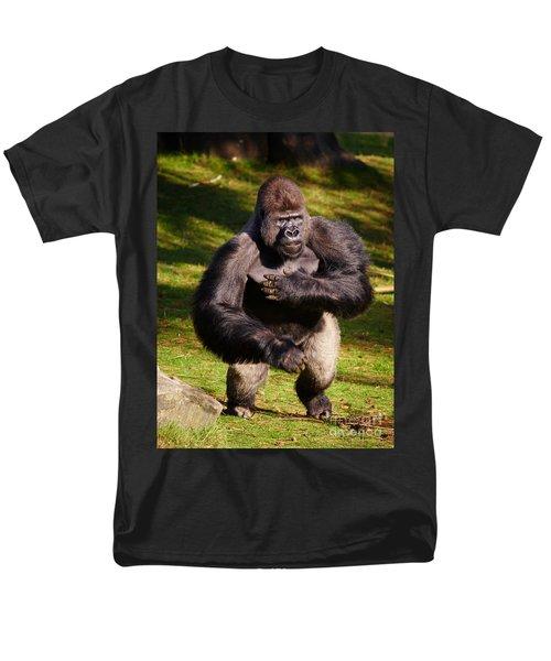 Standing Silverback Gorilla Men's T-Shirt  (Regular Fit) by Nick  Biemans