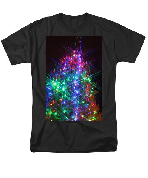 Men's T-Shirt  (Regular Fit) featuring the photograph Star Like Christmas Lights by Patrice Zinck
