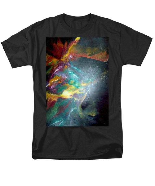 Men's T-Shirt  (Regular Fit) featuring the painting Star Nebula by Carrie Maurer