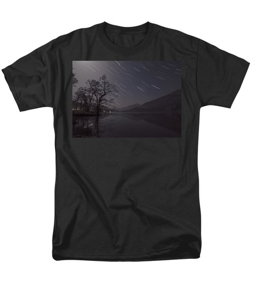 Star Trails Over Lake Men's T-Shirt  (Regular Fit) by Beverly Cash
