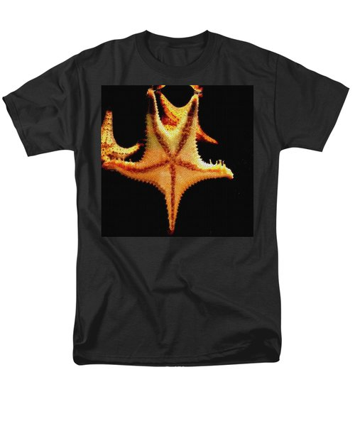 Men's T-Shirt  (Regular Fit) featuring the photograph Starfish In Mosaic by Janette Boyd