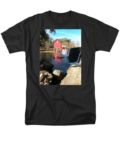 Men's T-Shirt  (Regular Fit) featuring the photograph Starr's Mill In Senioa Georgia 2 by Donna Brown
