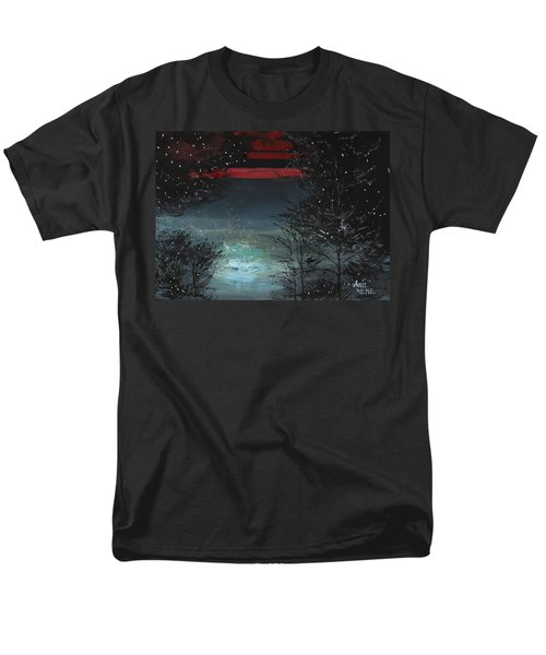 Starry Night Men's T-Shirt  (Regular Fit) by Anil Nene