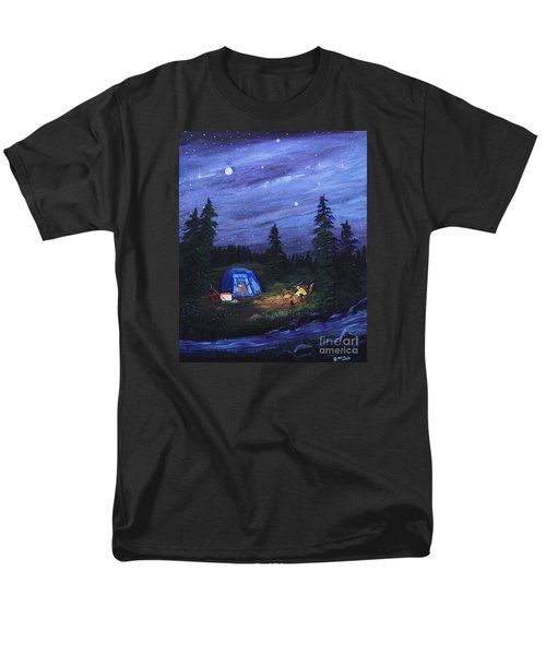 Starry Night Campers Delight Men's T-Shirt  (Regular Fit) by Myrna Walsh