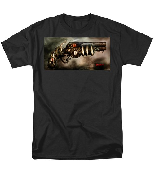 Men's T-Shirt  (Regular Fit) featuring the digital art Steam Punk Pistol Mk II by Kim Gauge