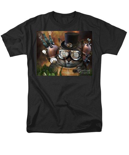 Steampunk Cat Men's T-Shirt  (Regular Fit) by Juli Scalzi