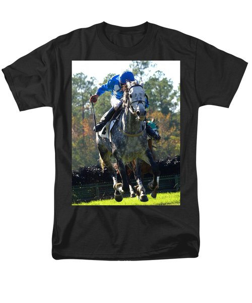 Men's T-Shirt  (Regular Fit) featuring the photograph Steeplechase by Robert L Jackson