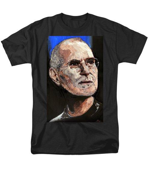 Men's T-Shirt  (Regular Fit) featuring the painting Steven Paul Jobs by Gordon Dean II