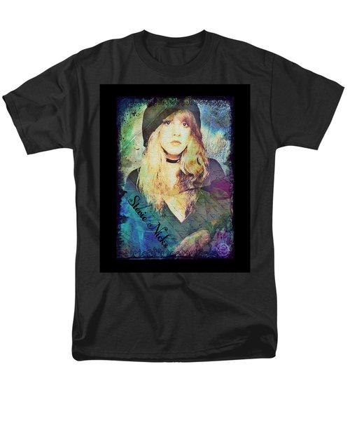 Stevie Nicks - Beret Men's T-Shirt  (Regular Fit) by Absinthe Art By Michelle LeAnn Scott