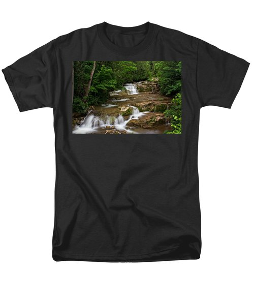 Stockbridge Falls Men's T-Shirt  (Regular Fit) by Dave Files