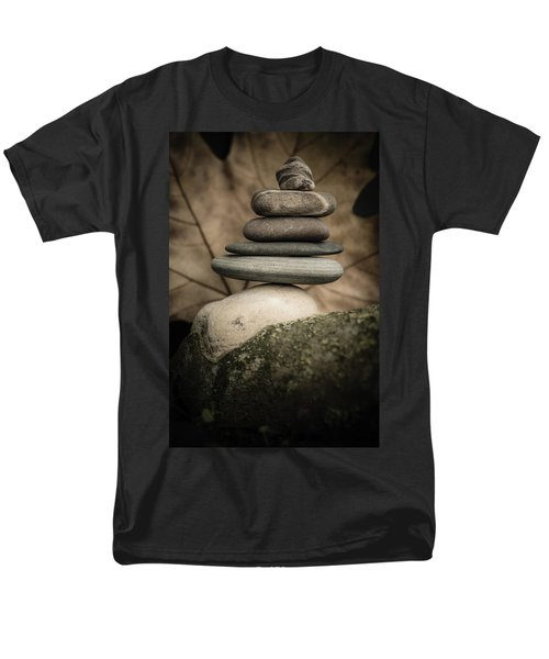 Stone Cairns Iv Men's T-Shirt  (Regular Fit) by Marco Oliveira