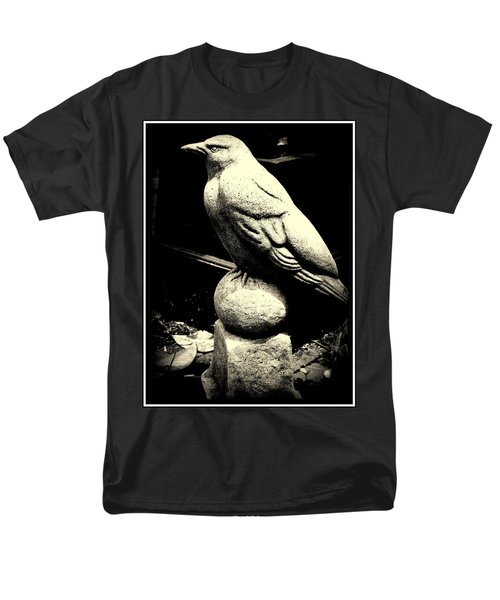 Stone Crow On Stone Ball Men's T-Shirt  (Regular Fit) by Kathy Barney
