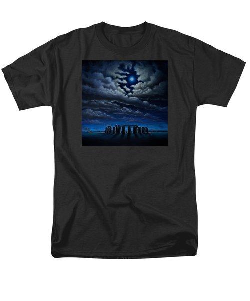 Stonehenge - The People's Circle Men's T-Shirt  (Regular Fit) by Ric Nagualero