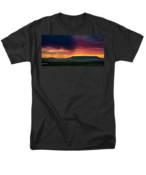 Storm Clouds Over Square Butte Men's T-Shirt  (Regular Fit)