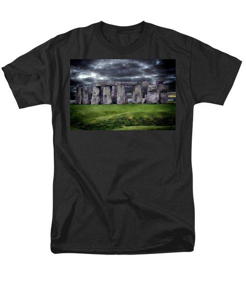 Storm Clouds Over Stonehenge Men's T-Shirt  (Regular Fit) by Anthony Dezenzio