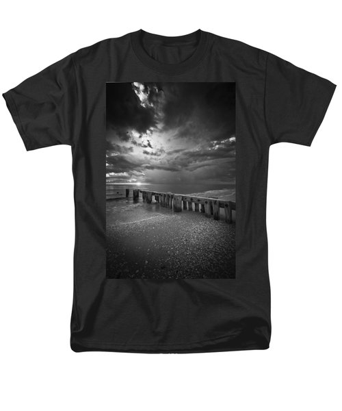 Storm Over Naples Florida Beach Men's T-Shirt  (Regular Fit) by Bradley R Youngberg