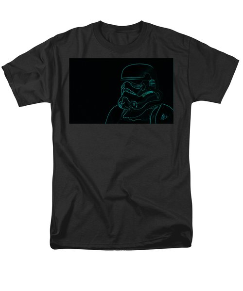 Men's T-Shirt  (Regular Fit) featuring the digital art Stormtrooper In Teal by Chris Thomas