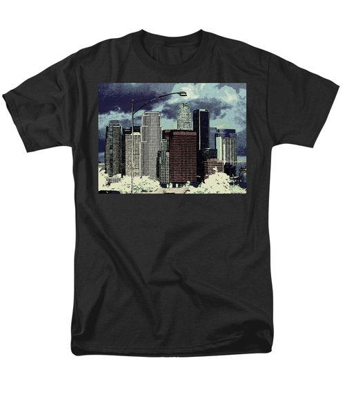 stormy Los Angeles from the freeway Men's T-Shirt  (Regular Fit) by Jodie Marie Anne Richardson Traugott          aka jm-ART