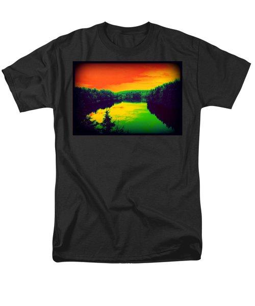 Strange River Scene Men's T-Shirt  (Regular Fit) by Jason Lees