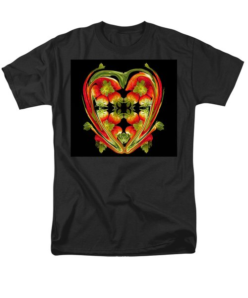 Strawberry Heart Men's T-Shirt  (Regular Fit) by David Pantuso