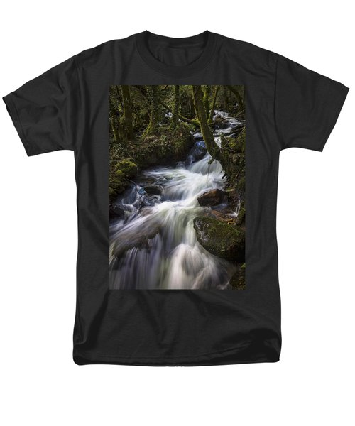 Men's T-Shirt  (Regular Fit) featuring the photograph Stream On Eume River Galicia Spain by Pablo Avanzini