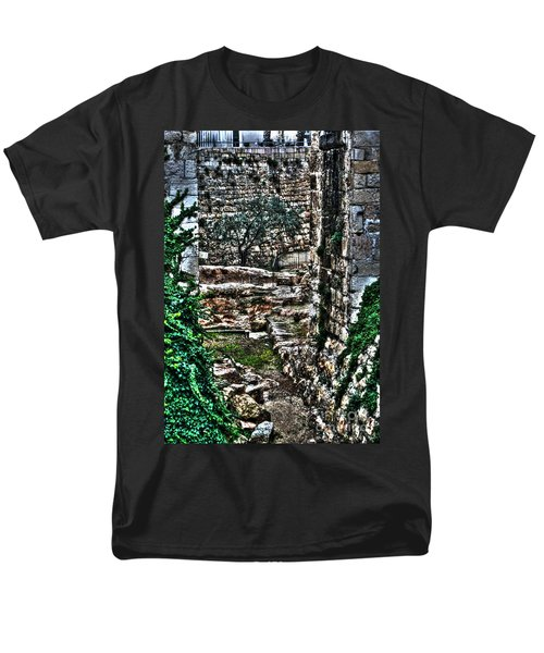 Men's T-Shirt  (Regular Fit) featuring the photograph Street In Jerusalem by Doc Braham