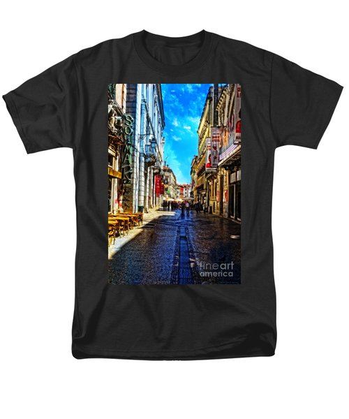 Streets Of Lisbon 1 Men's T-Shirt  (Regular Fit) by Mary Machare