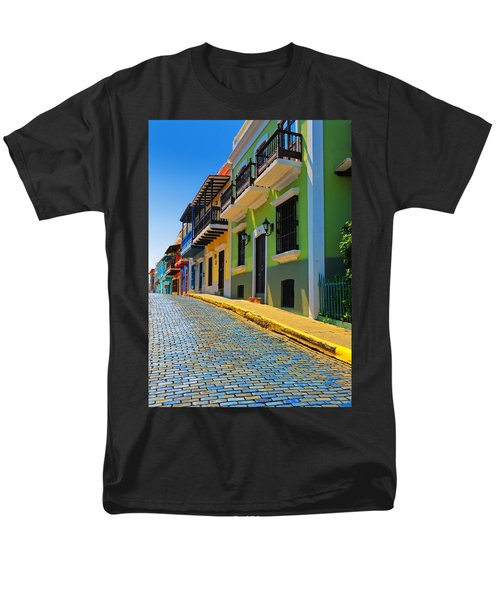Streets Of Old San Juan Men's T-Shirt  (Regular Fit) by Stephen Anderson