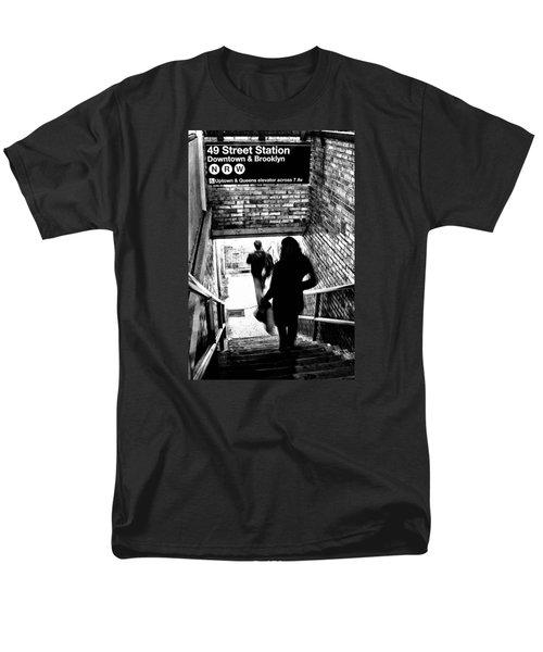 Subway Shadows Men's T-Shirt  (Regular Fit) by Karol Livote