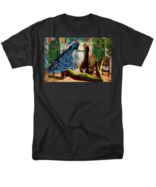 Men's T-Shirt  (Regular Fit) featuring the painting Suck My Peacock by Ally  White