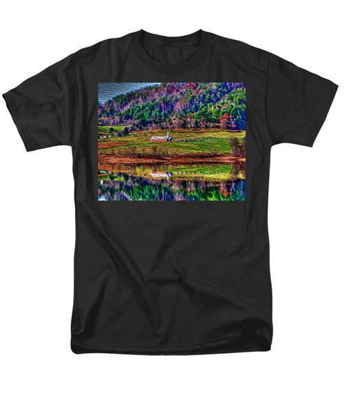 Sugar Grove Reflections 2 Men's T-Shirt  (Regular Fit) by Tom Culver
