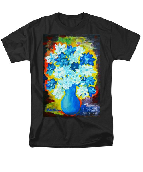 Men's T-Shirt  (Regular Fit) featuring the painting Summer Daisies by Ramona Matei