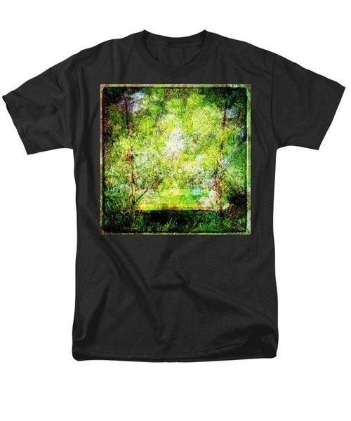 Men's T-Shirt  (Regular Fit) featuring the mixed media Summer Days Of Yore #1 by Sandy MacGowan