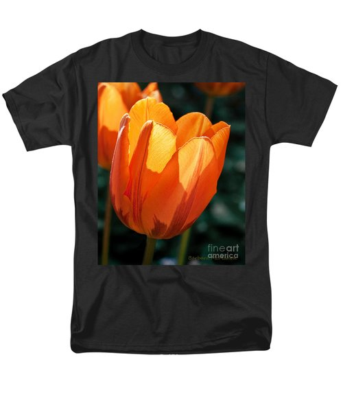 Men's T-Shirt  (Regular Fit) featuring the photograph Sun Kissed Tulip by Barbara McMahon