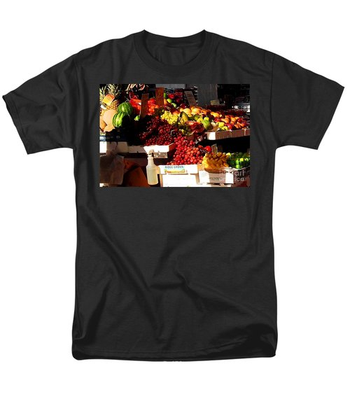 Men's T-Shirt  (Regular Fit) featuring the photograph Sun On Fruit Close Up by Miriam Danar
