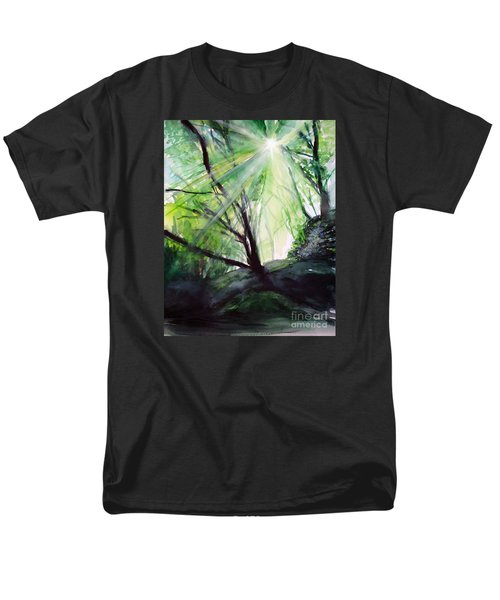 Men's T-Shirt  (Regular Fit) featuring the painting Sunbeans Of Grace by Allison Ashton