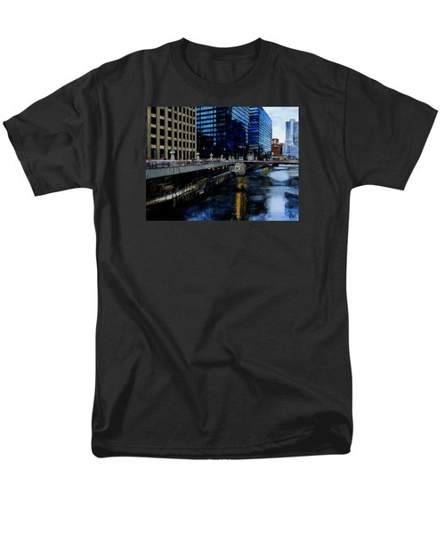 Sunday Morning In January- Chicago Men's T-Shirt  (Regular Fit) by Raymond Perez