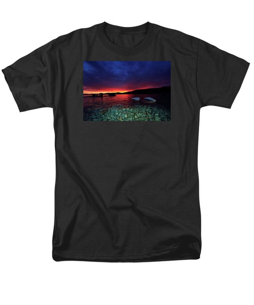 Men's T-Shirt  (Regular Fit) featuring the photograph Sundown In Lake Tahoe by Sean Sarsfield