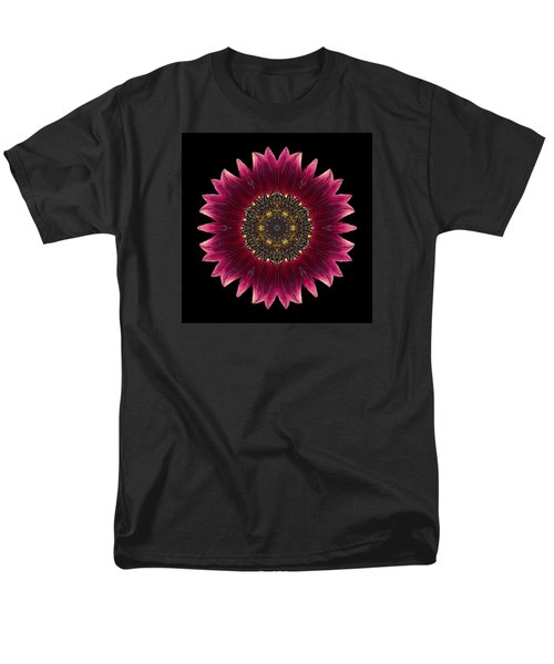 Sunflower Moulin Rouge I Flower Mandala Men's T-Shirt  (Regular Fit) by David J Bookbinder