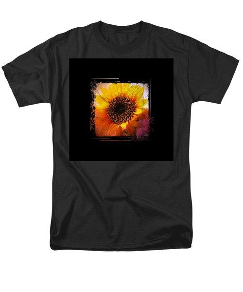 Men's T-Shirt  (Regular Fit) featuring the digital art Sunflower Sunset - Art Nouveau  by Absinthe Art By Michelle LeAnn Scott