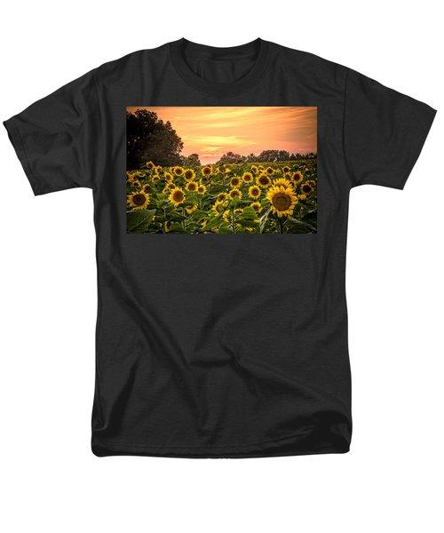 Men's T-Shirt  (Regular Fit) featuring the photograph Sunflower Sunset by Steven Bateson