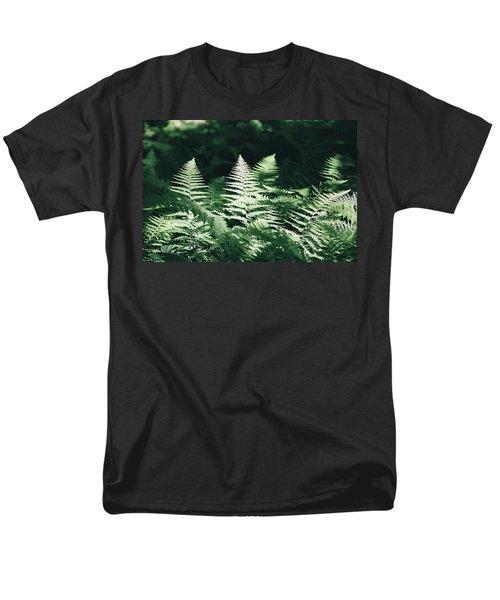 Men's T-Shirt  (Regular Fit) featuring the photograph Sunlight And Shadows-algonquin Ferns by David Porteus