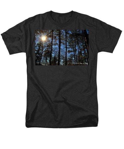 Men's T-Shirt  (Regular Fit) featuring the photograph Sunlight Through Trees by Tara Potts
