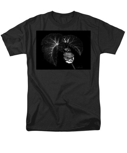 Men's T-Shirt  (Regular Fit) featuring the drawing Sunlit Begonia by Sandra LaFaut