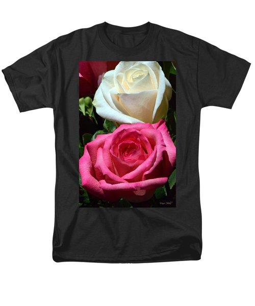 Sunlit Roses Men's T-Shirt  (Regular Fit) by Marie Hicks