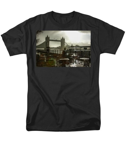 Sunny Rainstorm In London - England Men's T-Shirt  (Regular Fit) by Georgia Mizuleva