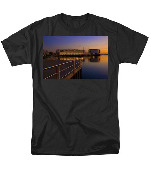 Men's T-Shirt  (Regular Fit) featuring the photograph Sunrise At The Lakefront by Jonah  Anderson