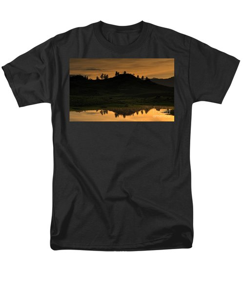 Men's T-Shirt  (Regular Fit) featuring the photograph Sunrise Behind A Yellowstone Ridge by Bill Gabbert