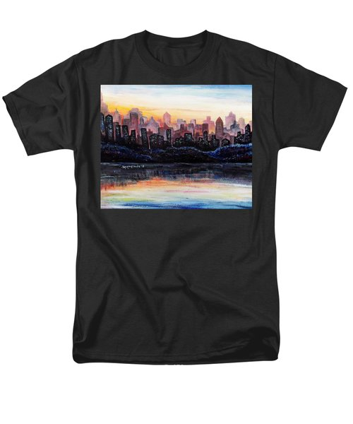 Men's T-Shirt  (Regular Fit) featuring the painting Sunrise City by Shana Rowe Jackson