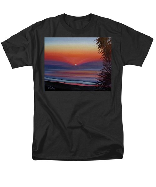 Men's T-Shirt  (Regular Fit) featuring the painting Sunrise Glow by Donna Tuten
